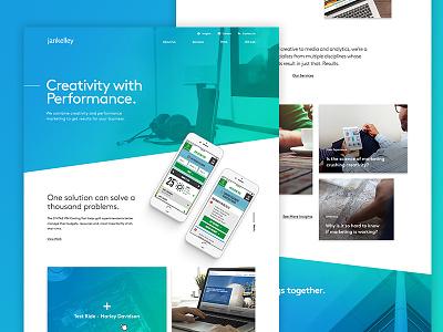 Agency website phase 2 ui marketing landing page design ux website