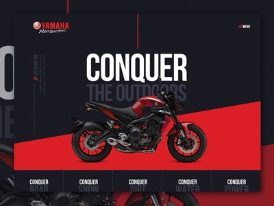 Yamaha Concept diagonal angles web design website bikes motorcycle yamaha ux