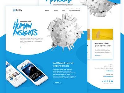 Agency redesign concept paint angles shapes portfolio web design website folio agency ux