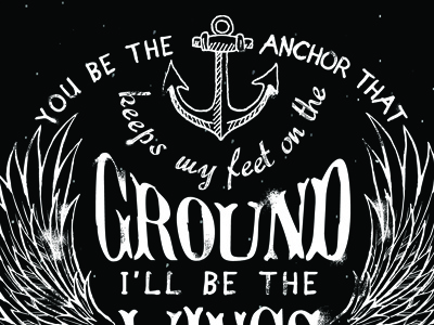 type wallpaper type anchor wings drawn typography