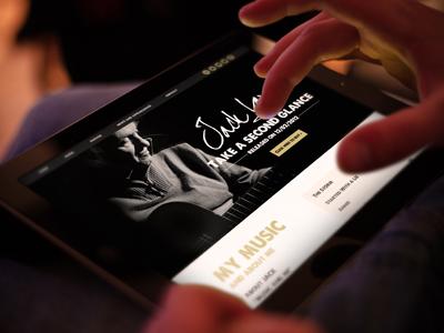 Responsive Singer Website website responsive signer songwriter one page