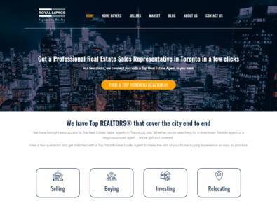 Torealestateagent Web design