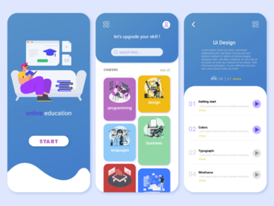Online education app uiuxuidesigndesignuxdesign