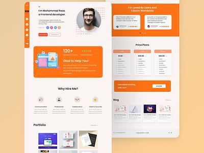 Portfolio landing page ui kit figma portfolio website webui ui design ux ui