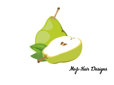 Pear drawing design drawing vector illustration