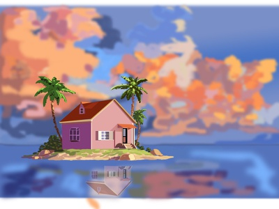 house drawing vector flat drawing illustration design