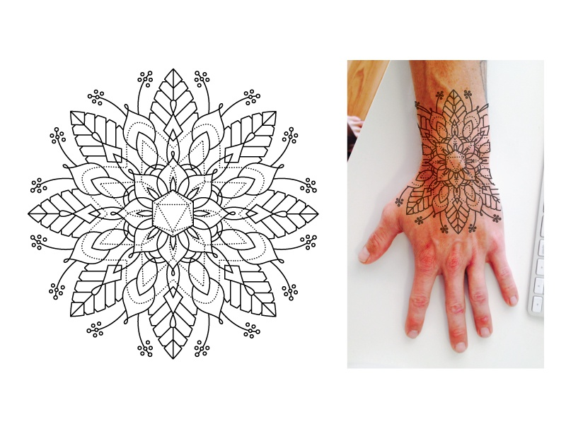 5540e224e Mandala Tattoo mandala sacred geometry floral linework tattoo design  illustration