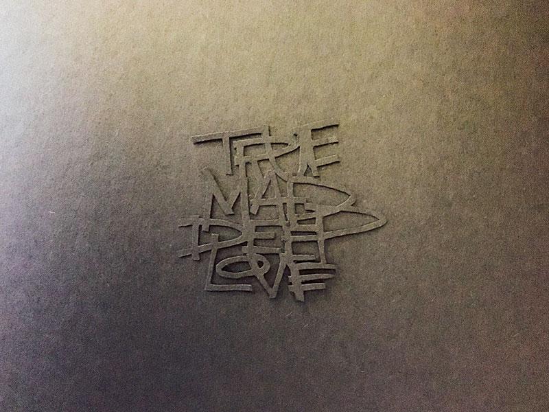 Mad Deep illustration 3d black deep instagram exacto paper typography lettering love