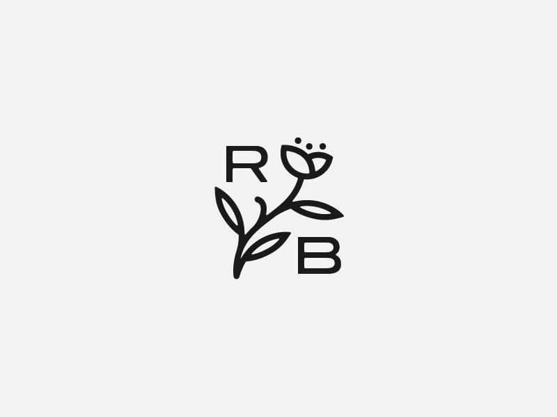 Rogue Blossom Cannabis Farm stamp leaf icon line drawing farm cannabis flower blossom brand identity logo