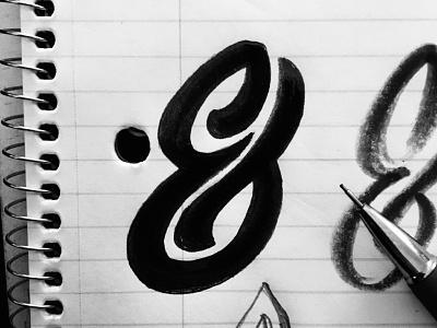 Ampersand ampersand logo mark monogram type illustration lettering