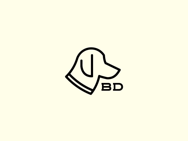 Bird Dog  glass blowing cannabis line drawing animal hunting bird dog branding minimal logo icon dog