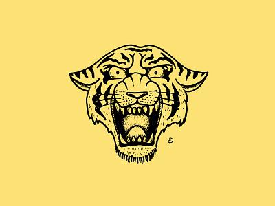 Tiger Tattoo  radical illustration hand drawn tiger traditional tattoo