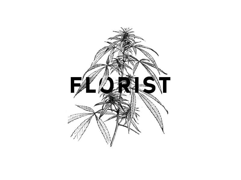 Florist plant illustration cannabis branding