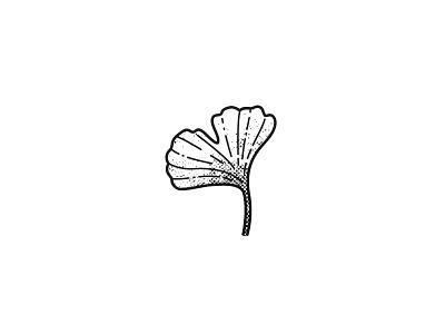 Ginko Leaf ink tattoo zen nature simple texture illustration ginko leaf