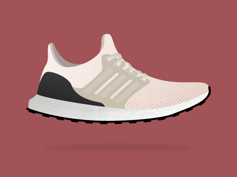 Boosted sports running illustration shoe ultraboost adidas