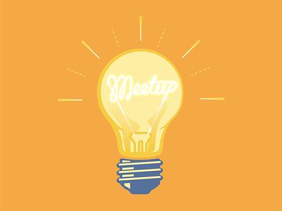 """No Meetups scheduled - have one in mind?"" meetup lightbulb bulb light"