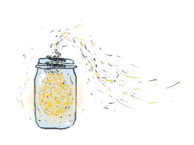Some really coordinated bugs lightning bugs lightbulb jar