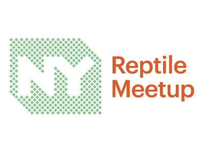 NY Reptile Meetup logo logotype grid scales meetup reptile