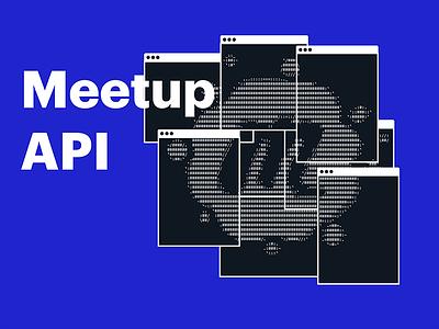Rebranded Meetup API banner ascii swarm blue meetup console terminal api