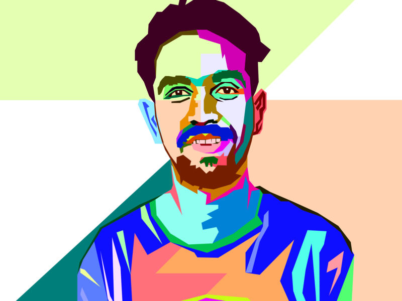 WPAP STYLE vector portrait. colors wedha vectors colourful portrait vector illustration portrait art portraits vectorart colorful wpap illustration art illustration design adobe illustrator