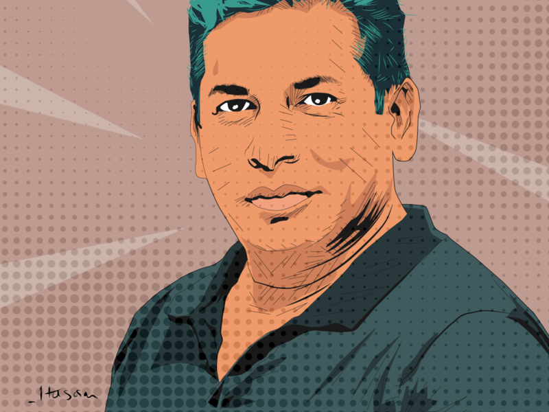 Mosharraf Karim Comic Style colour concept celebrety actor bangladesh mosharraf classic old comic style comic vector illustration vectorart vector portraits portrait art portrait illustration art illustration flat adobe illustrator
