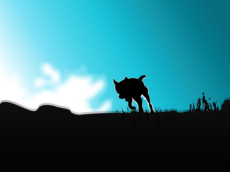 Dog Silhouette Sky Background Vector backgrounds doggy dogs silhouettes dog illustration blue sky background silhouette dog artwork vectors vector art vector illustration vectorart vector illustration art illustration flat adobe illustrator