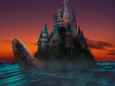 The Vanishing Isle design castle sea animal disney manipulation photoshop photo