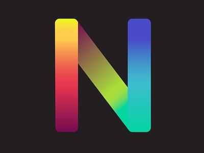 N Logo rgb logomark gradient letter graphic design logo ui design portrait art vector illustration art vectorart vector illustration illustration adobe illustrator