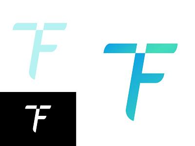 TF Logo gradient logo design adobe illustrator logo buy minimal logo tech logo icon logo logo design logo for sale brandmark vector
