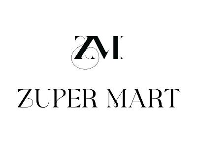 Zuper Mart Logo rich elegant designer fancy glamor famous brand business lettermark wordmark logotype logomark brand identity branding shop store clothing fashion logo graphic design