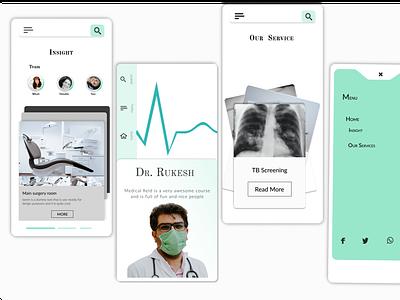 Medical mobile design website app ux web ui design