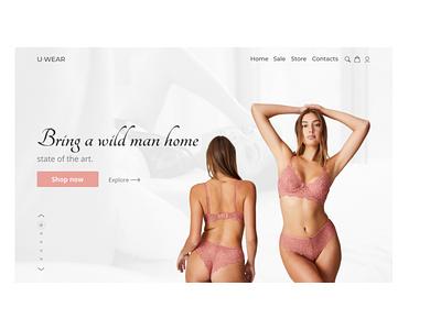U-wear( women underwear store) website ux ui web minimal web design