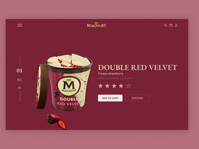 Magnum landing page concept one. website web web design website design ux ui minimal