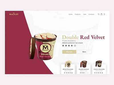 Magnum landing page concept two logo ui branding illustration web design ux website web minimal design