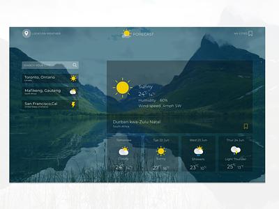 forecast web app. collaboration with @dev_mille. branding logo illustration design web design ux website ui web minimal