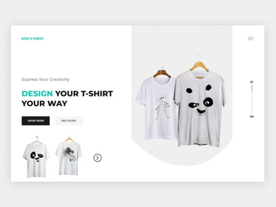 GOD'S FINEST WEBSITE DESIGN branding logo illustration design web design ux website web ui minimal