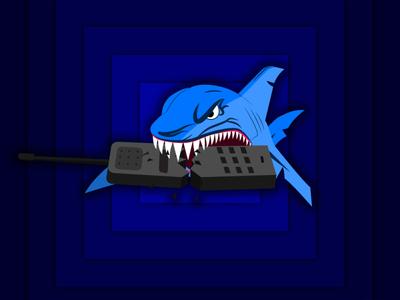 Blue Shark illustration vector art icon vector illustration logo hand drawn vector illustrator