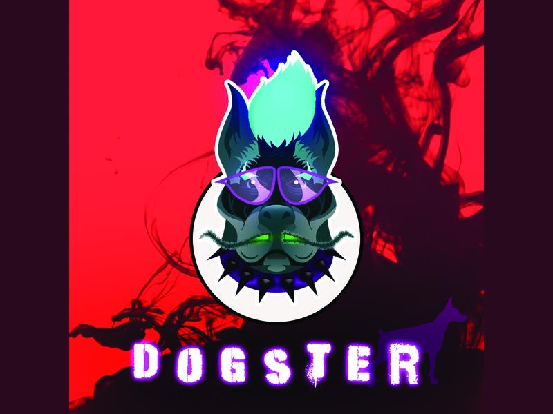 Dogster (Doggy Gangster) photoshop icon vector illustration vector art logo illustration hand drawn vector illustrator