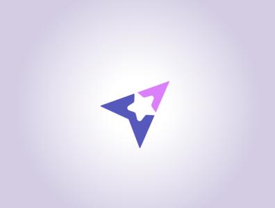 Star and Fly illustration design logo design logo fly stars star
