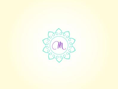 M minimal m circle illustration design logo design logo