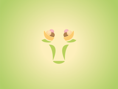 Cow and İce Cream icecream cow illustration design logo design logo