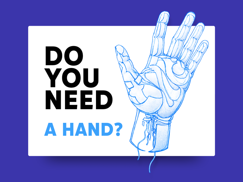 Do you need a HAND? Illustration style concept style concept surrealism shapes ink hand hand drawn illustration