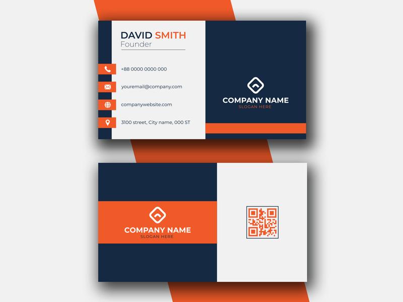 Creative Business Card Template branding ui illustration digital logo creative corporate clean casual business