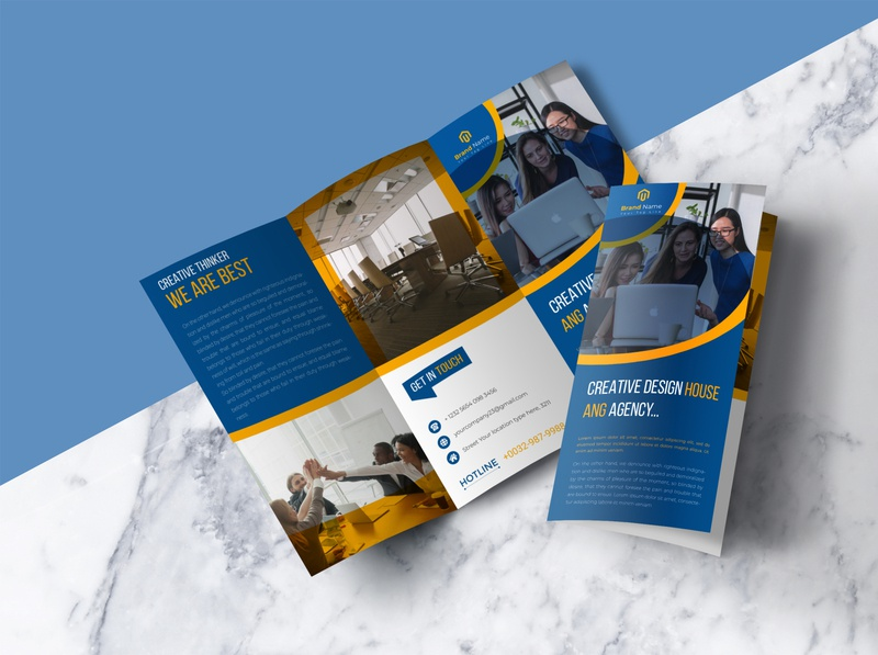 Creative Corporate Tri-Fold Brochure template style professional pro print ready print multipurpose modern marketing letter indesign financial customizable creative corporate company clean business brochure business brochure