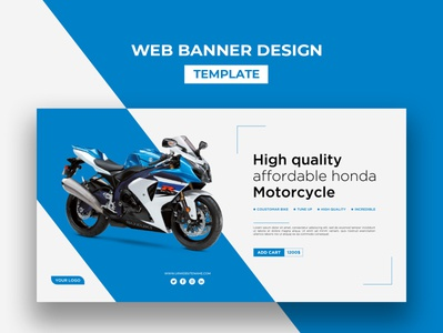 Web Banner Design Template logo corporate ux template design branding clean business creative ui bannerads webdesign