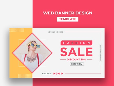 Web Banner Design Template creative social design cover design banner design bannerads postdesign social media design ux business ui template design branding