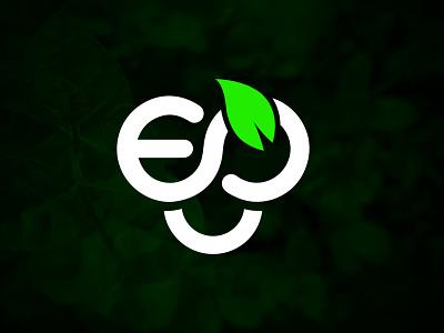 EG Natural Logo Design modern leaf green logodesign brand design brand identity branding designer natural logo logo branding design logotype tree logo nature logo
