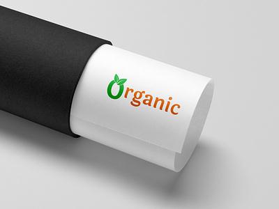 Organic Shop logo visual identity logo design concept modern leaf leaves organics vegan green brand identity branding design organic food logo design organic template logo organic shop