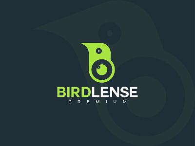 Bird Lense logo design abstract flat icons logotype branding and identity modern geometric bird icon minimal flatdesign animal logo branding design bird logo bird