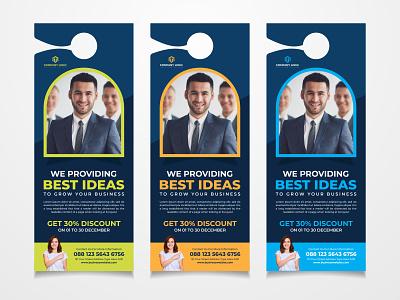Door Hanger Design modern design door hanger rack card design creative corporate branding template hanger design business hanger hanger